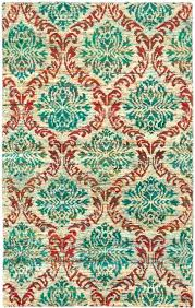 sari silk ivory teal rug hand knotted 5 x rugs recycled hand knotted green sari silk rug