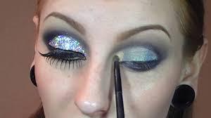 futuristic 60s mod silver mac 3d cut crease glitter makeup tutorial