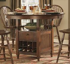 Wood And Metal Round Dining Table Excellent Ideas Counter Height Round Dining Table Majestic Design