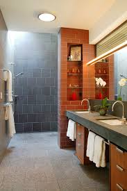 Metro Chic Door Less Walk-In Shower Design Idea for Small Spaces