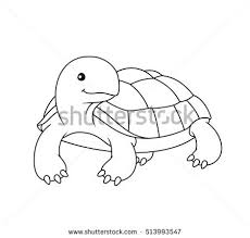 Small Picture Paw Print Turtle Coloring Page Vector Stock Vector 323281175