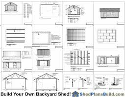 garage door plans16x24 Garage Door Storage Shed Plans