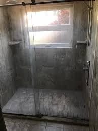 shower door with shower before