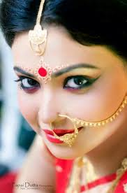 chandan make up bengali bride