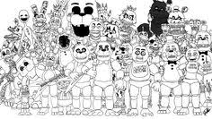 31 Best Fnaf Coloring Pages Images In 2019 Drawings Fnaf Coloring