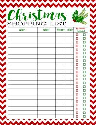Free Printable Christmas Shopping List Best Of Pinterest