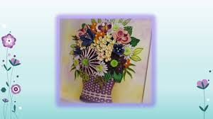 Paper Quilling Flower Baskets Original Paper Quilling Wall Art Small Basket With Flowers Youtube