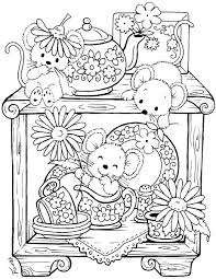 Red Coloring Sheet Mouse Paint Coloring Sheet Kitchen Mice Coloring