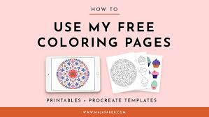 Color the pictures online or print them to color them with your paints or crayons. How To Use My Free Coloring Pages Printables Procreate Templates