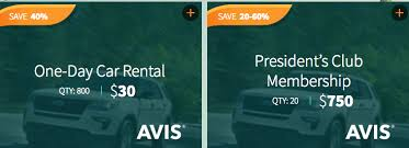 Hertz Points Redemption Chart Daily Getaways 4 13 Save 40 With Avis Rental Car Points