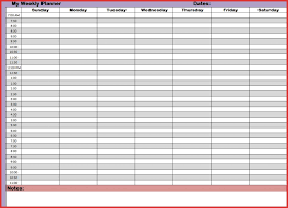 Weekly Calendars With Hours 021 Hr Schedule Template Hour Week Calendar With Hours Maths