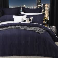 spencer navy duvet cover set by logan and mason commercial supplies