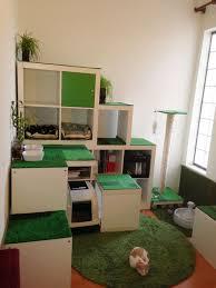 an ikea cat apartment storage shelves made of kallax shelving