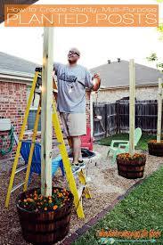 do it yourself outdoor lighting. diy sturdy planted posts do it yourself outdoor lighting n