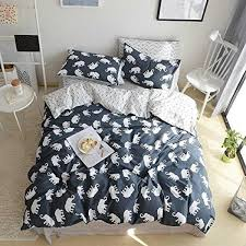 bulutu elephant print kids duvet cover sets full grey 100 cotton queen comforter bedding cover