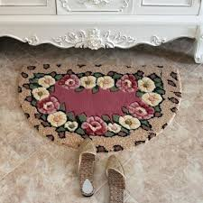 semi circle doormat high quality fl doormat acrylic semi circle welcome carpet living room rugs bathroom semi circle