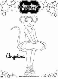Small Picture Angelina Ballerina Coloring Page FunyColoring