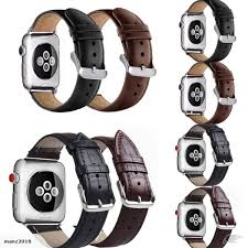 genuine black leather replacement strap band 4 apple iwatch 38 40 42 44mm watch trade me