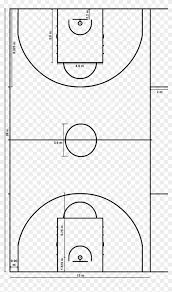 Basketball Court Measurements Basketball Court Diagram Png