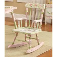 white wooden rocking chair. Exellent White Rocking Chair Childs White Wooden Small  Infant Kids Upholstered On