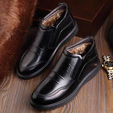 <b>MEIL Winter Men Shoes</b> Fashion plush warm Genuine Leather ...