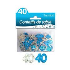 GÉNÉRIQUE - 3 Sachets Confettis De Table 40 Ans Bleue Argent - pas ...