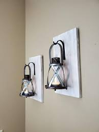 wall sconce light rustic home decor