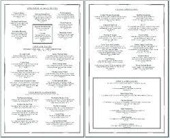 Ms Word Menu Templates Free Restaurant Menu Template Word Free Restaurant Menu