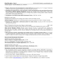 Software Engineer Resume Samples Professional Resume Sample Software