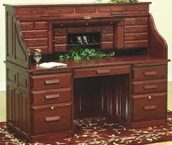 deluxe roll top desk hickory or rustic hickory