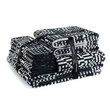 black and white bath towels. Great Bathroom Accessories With Black And White Towel Sets Bath Towels Chevron Checkered Square Pattern For . Park Slope T
