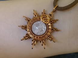 sun pendant wire wrapping jewelry tutorial 215
