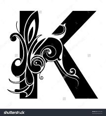 Decorative Letters Decorative Letter Shape Font K Stock Vector 92751283 Shutterstock