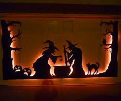 decoration unique exterior garage door mural halloween with sheluette witch and cat plus owl home child friendly halloween lighting inmyinterior outdoor
