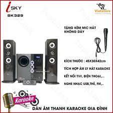 CHÍNH HÃNG] Dàn Âm Thanh Tại Nhà - Loa Vi Tính Hát Karaoke Âm Thanh Đỉnh  Cao Có Kết Nối Bluetooth Isky - SK329
