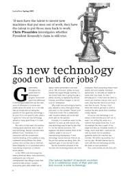 is new technology good or bad for jobs lse research online is new technology good or bad for jobs