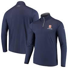 Syracuse Jacket Quarter-zip Men's Navy Under Threadborne Armour Orange