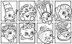 Shopkins Coloring Pages Pdf Download Jokingartcom Shopkins