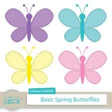spring butterfly clipart. Unique Spring Basic Spring Butterflies Clipart For Digital Scrapbooking Stock On Butterfly