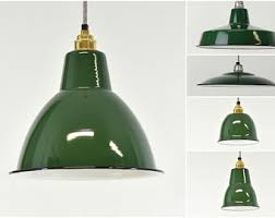 warehouse style lighting. Factory Green Enamel Vintage Industrial Warehouse Style Light Lamp Shades - 5 Shapes Lighting