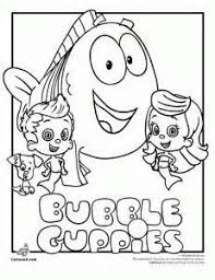 Small Picture Bubble Guppies Coloring Pages Cartoon Jr Stuff to Try