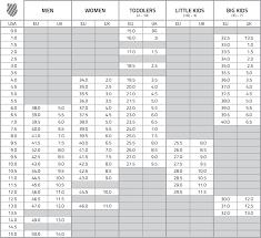 Junior Footwear Size Chart Size Chart K Swiss