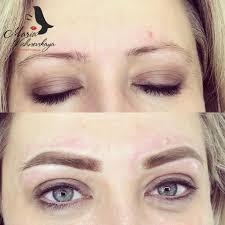 перманентный макияж пудровые брови студия марии вишневской