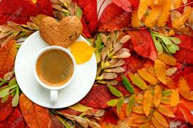 Trees drop leaves and pine cones in the fall, and during a walk outside, you may find any number of them. Autumn Fall Leaves Hot Steaming Cup Of Coffee And A Warm On Stock Photo Picture And Royalty Free Image Image 130346975
