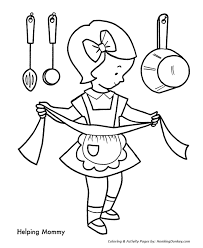 Small Picture Helping Mom make Christmas Cookies Coloring Pages Christmas