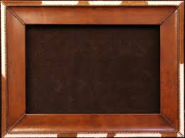 24 by 24 picture frame handmade leather frame with cowhide trim hand stitched leather lacing 6