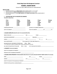 Fillable Online Accident Incident Report Eastern Florida