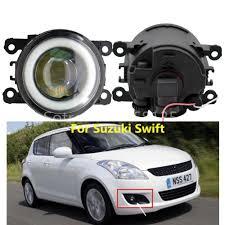 Swift Car Led Lights Us 30 24 20 Off 2x Car Led Fog Lights 90mm Round Angel Eye Daytime Running Light For Suzuki Grand Vitara Alto Swift Ignis Jimny Splash 1998 2015 In