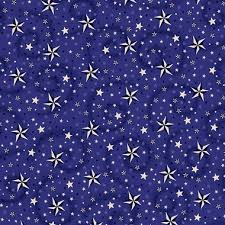 108  American Dreams Wide Quilt Backing - Blue & 108