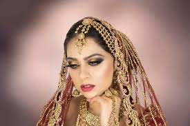 gold glitter asian bridal makeup